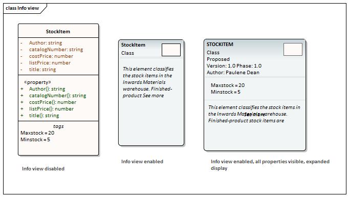 Info view Style   Enterprise Architect User Guide