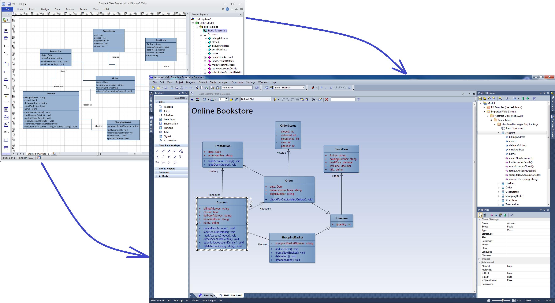 moving visio diagrams into enterprise architect
